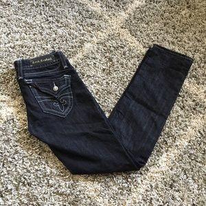 Rock Revival Black Wash Chrissie Skinny Jeans 29